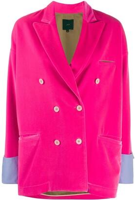 Jejia Velvet Double-Breasted Jacket
