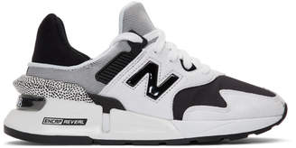 New Balance White and Black 997 Sport Sneakers