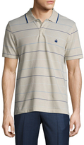 Brooks Brothers Oxford Road Map Striped Slim Fit Polo