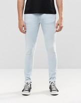 Nudie Jeans Skinny Lin Super Skinny Jeans Azure Bleach Wash