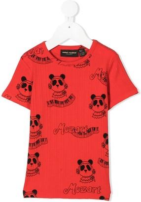 Mini Rodini Mozart panda-print T-shirt
