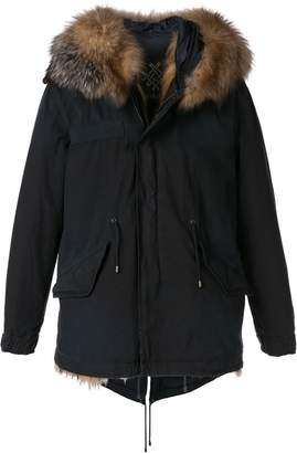 Mr & Mrs Italy faux fur trimmed coat
