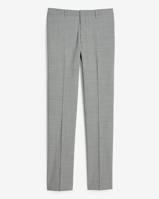Express Extra Slim Solid Gray Modern Tech Suit Pant