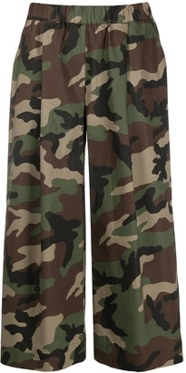 P.A.R.O.S.H. Camouflage Print Trousers