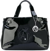 Armani Jeans high shine tote bag - women - Polyester/Viscose/PVC - One Size