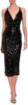 Dolce & Gabbana Sleeveless V-Neck Sequined Midi Dress