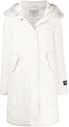 Woolrich Hooded Wool Parka Coat