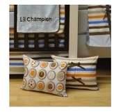 Bacati Modern Sports Champion Decorative Pillow
