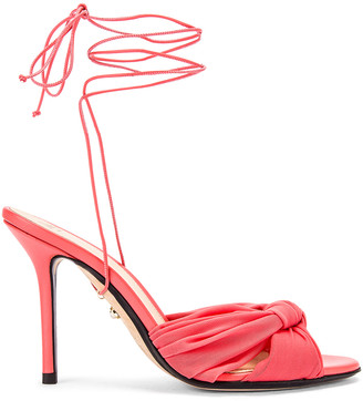 ALEVÌ Milano Vichy Sandal in Net Coral | FWRD