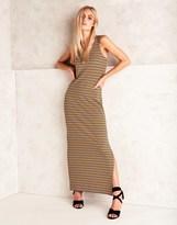 Noisy May Striped Maxi Dress