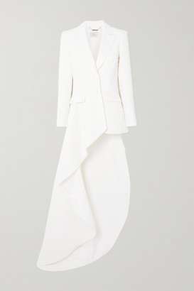 RALPH & RUSSO Asymmetric Draped Crepe Blazer - White