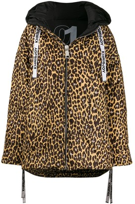 KHRISJOY Oversized Leopard-Print Coat