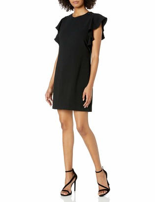 Laundry by Shelli Segal Women's Crepe Shift Dress with Metal Details