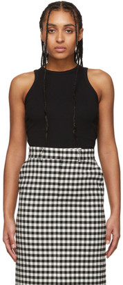 Ami Alexandre Mattiussi Black Cotton Tank Top