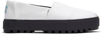 Toms White Canvas Women's Alpargata Lug Slip-Ons