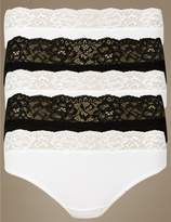 Marks and Spencer 5 Pack Lace Waisted Thongs