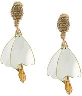 Oscar de la Renta embellished drop earrings