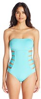 Kenneth Cole Reaction Women's Ruffle-Licious Banded One-Piece Swimsuit