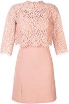 Twin-Set lace detail dress