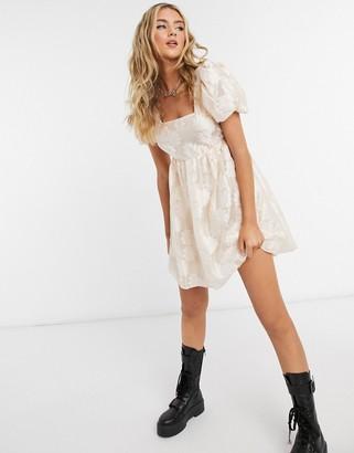 Topshop daisy organza dress in blush