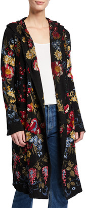 Johnny Was Sybil Floral Embroidered Hooded Duster
