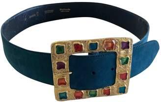 Guy Laroche Blue Suede Belts