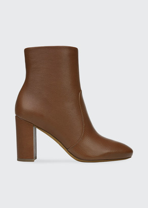 Vince Brannen Leather Ankle Booties