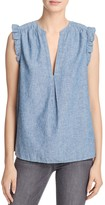 Joie Blaine Sleeveless Chambray Top