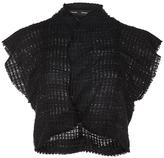 Proenza Schouler Open Weave Tweed Cropped Top