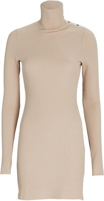 The Range Waffle Knit Turtleneck Mini Dress