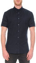 Alexander McQueen Short-Sleeve Button-Down Shirt, Navy