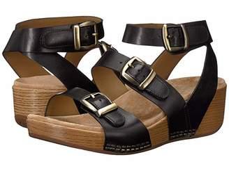 Dansko Lou (Black Burnished Calf) Women's Sandals