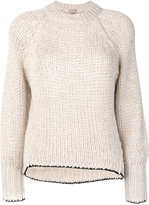 Nude chunky knit jumper - women - Acrylic/Polyester/Viscose/Alpaca - 42