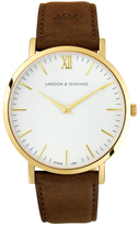 Larsson & Jennings Lugano 40mm Gold / Brown Leather
