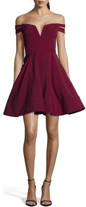 Xscape Evenings Double Strap Off the Shoulder Party Dress
