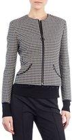 Akris Punto Zip-Front Grid Jacket