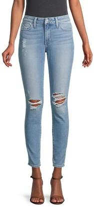 Joe's Jeans Mid-Rise Skinny-Fit Distressed Jeans