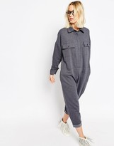 Asos Oversized Jumpsuit With Cuff Details