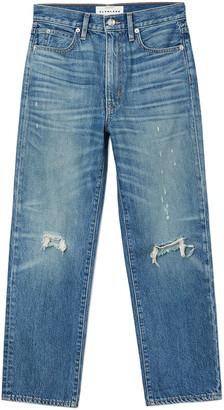 SLVRLAKE London Cropped Straight-Leg Jeans