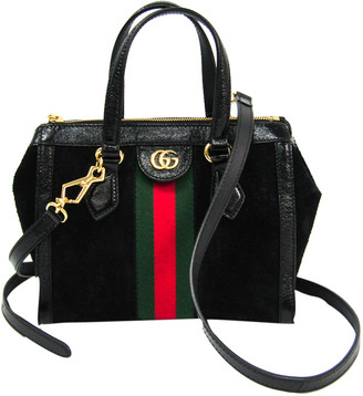 Gucci Black Suede Leather Ophidia Small Tote Bag