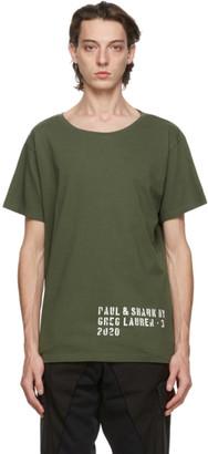 Greg Lauren Khaki Paul and Shark Edition Basic T-Shirt
