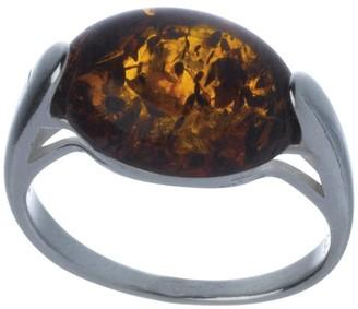 Nature d'Ambre 3111237-Women's Cognac Amber Ring Orange