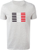 Moncler tri-colour stripe T-shirt - men - Cotton - L