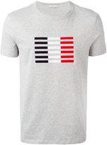 Moncler tri-colour stripe T-shirt - men - Cotton - XS