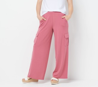 Lisa Rinna Collection Petite Pull-On Wide-Leg Cargo Pants