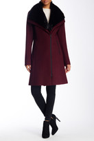 Soia & Kyo Faux Fur Collar Wool Blend Coat