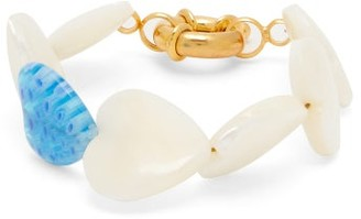 Mother of Pearl Timeless Pearly - Mother-of-pearl Heart & Gold-plated Bracelet - Womens - Pearl