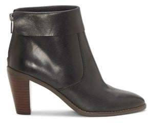 Lucky Brand Nycott Leather Foldover Cone-Heel Booties