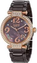 Burgi Women's BUR071BR Quartz Date Ceramic Bracelet Watch