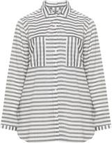 Via Appia Plus Size Striped cotton shirt